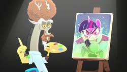 Discord makes a new portrait of jealous Twilight S5E22