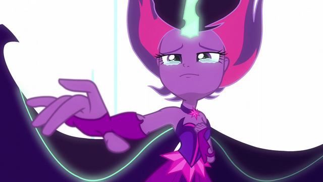 File:Midnight Sparkle tearfully reaches out her hand EG3.png