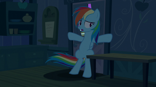 File:Rainbow takes shelter in Applejack's house S6E15.png