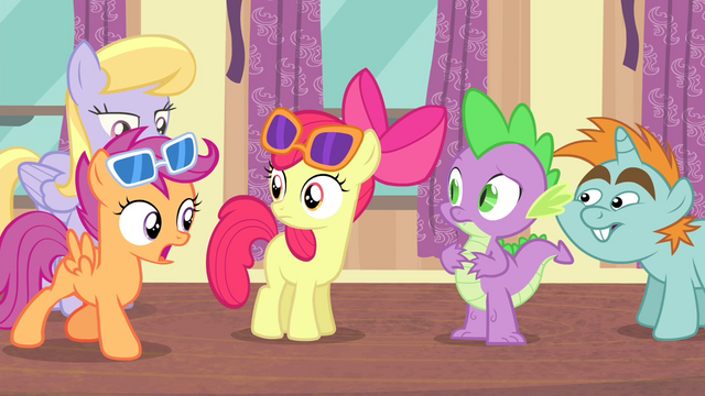 "File:Scootaloo ""Even Rainbow Dash?"" S4E19.png"