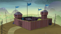Wide view of McColts' fortress S5E23