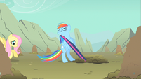 Rainbow Dash strong effort S1E19