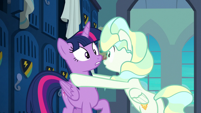 File:Vapor puts her hooves on Twilight in panic S6E24.png