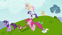 Rainbow Dash's friends with their pets S2E07