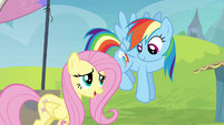 Fluttershy offers to help Rainbow Dash S4E22