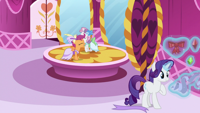File:Scootaloo and Sweetie excited for the Gala S5E7.png