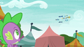 Spike watching the Wonderbolts perform S6E7.png