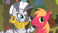 Zecora closes Big Mac's mouth S4E14