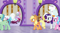 Applejack continues to follow Spa Worker S6E10