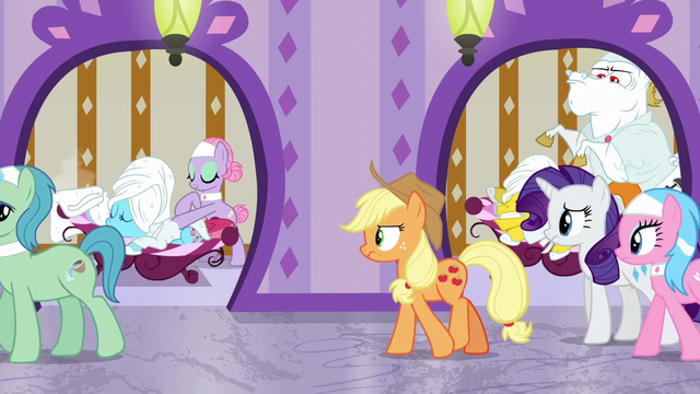 File:Applejack continues to follow Spa Worker S6E10.png