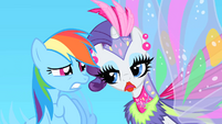 Rarity tells Rainbow Dash she changed the music S1E16