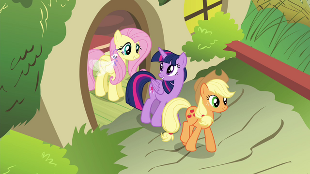 File:Twilight and Applejack leaving S4E16.png