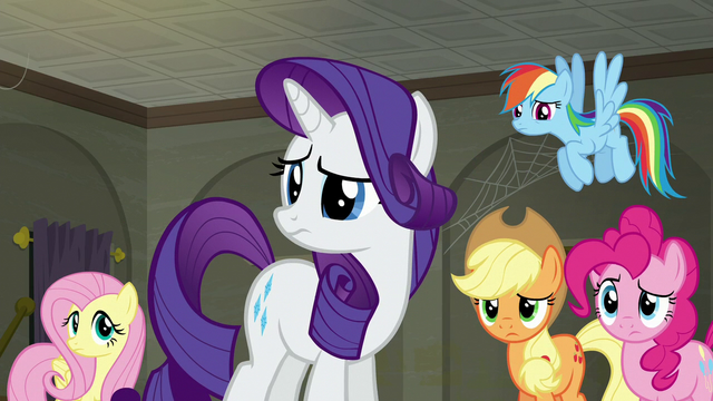 File:Main five looking uncertain at Twilight S6E9.png