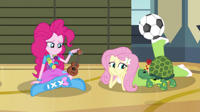 File:Pinkie Pie and Fluttershy depressed EG2.png