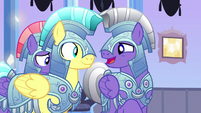 "Royal guard 2 ""friends with a changeling?"" S6E16"