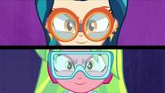 Indigo Zap and Lemon Zest wearing goggles EG3