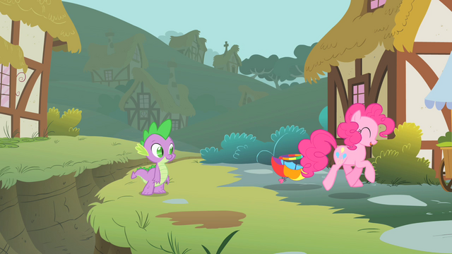 File:Pinkie Pie trotting away from the ditch S1E15.png