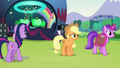 Applejack sees Amethyst Star walking away with clipboard S5E24.png