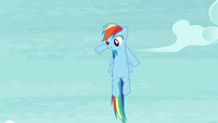 Rainbow waving her front legs S5E15