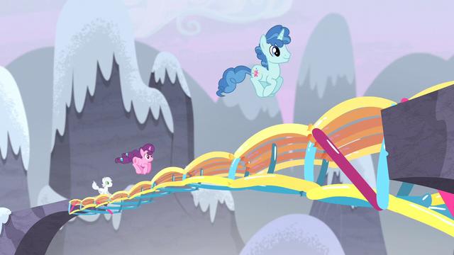 File:Village ponies bounce across the bridge S5E2.png