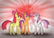 FANMADE The CMC as alicorns