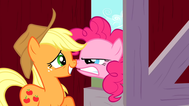 File:Pinkie Pie angry at Applejack S01E25.png