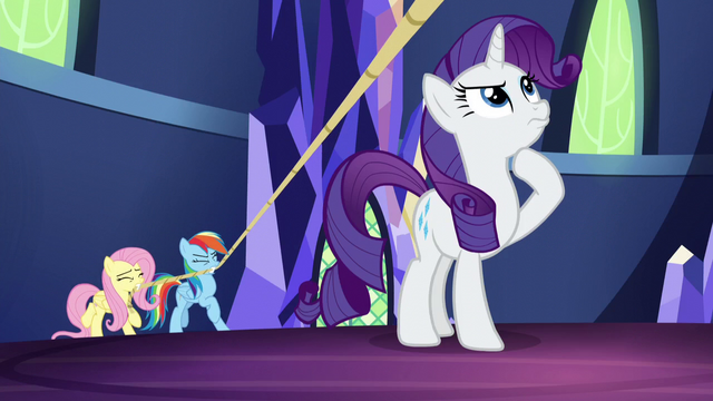 File:Rainbow and Fluttershy hoisting the chandelier S5E3.png