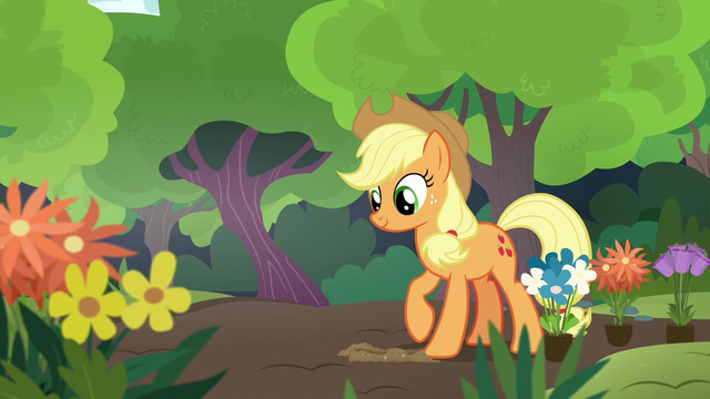 File:Applejack digging a small hole in the dirt S7E5.png