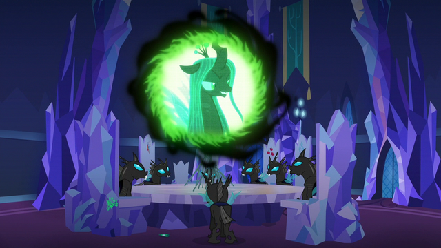 "File:Queen Chrysalis ""with all the most beloved ponies"" S6E25.png"
