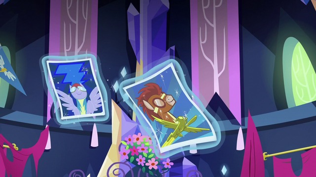 File:Rarity levitates Rainbow's posters S5E3.png