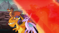 Red magical wave makes the dragons stop glowing S6E5.png