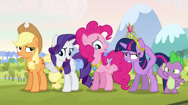 File:Twilight and her friends hesitant S03E10.png