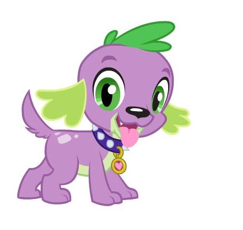 File:Equestria Girls Spike dog wearing collar with tag.jpg