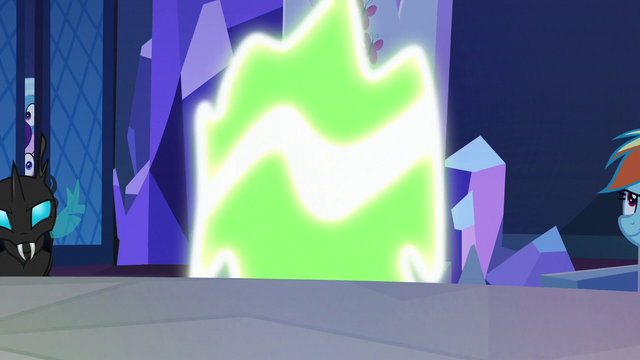 File:Fluttershy Changeling turning back to normal S6E25.png