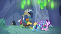 Discord, Starlight, and Trixie watch the entrance close S6E25.png
