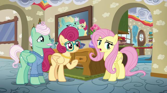 "File:Fluttershy sighing ""I know"" S6E11.png"