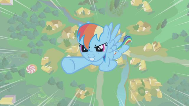 File:Rainbow Dash flying upward S1E06.png