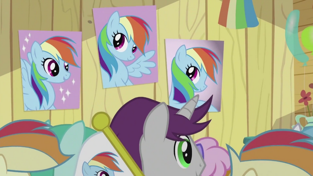 File:Rainbow Dash Fan Club Posters S2E8.png