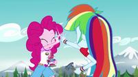 Pinkie Pie and Rainbow Dash high-five EG4