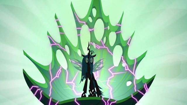 File:Queen Chrysalis sitting on a cracking throne S6E26.png