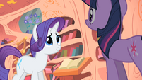 "Rarity ""may indeed be a problem"" S1E08"