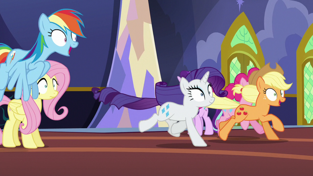 File:Main ponies hypnotized and running off S6E21.png