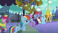 Rainbow Dash advertising flugelhorn S3E2.png