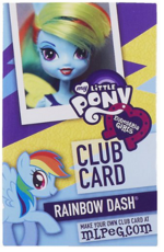 Rainbow Dash Equestria Girls Club card