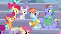 "Bow Hothoof ""you really know your Rainbow Dash history"" S7E7"