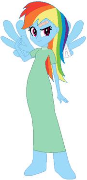 FANMADE Rainbow Dash Human Hospital