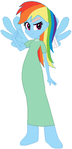 File:FANMADE Rainbow Dash Human Hospital.png