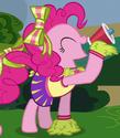Pinkie Pie cheerleader ID S4E10