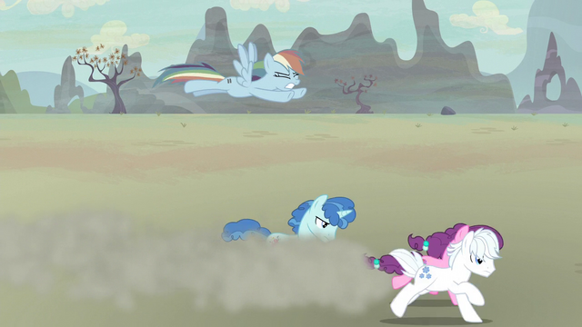 File:Rainbow Dash slower than running ponies S5E2.png