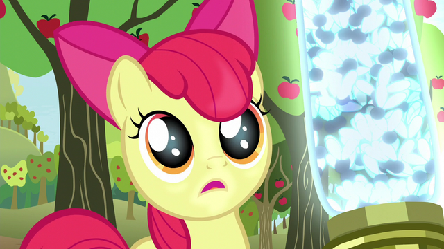"File:Apple Bloom asks ""Pest ponies?"" S5E04.png"